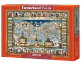Puzzle Castorland Map of the World, 1639 2000 dílků