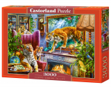 Puzzle Castorland Tigers Comming to life 3000 dílků