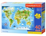 Puzzle Castorland World Map  40 dílků