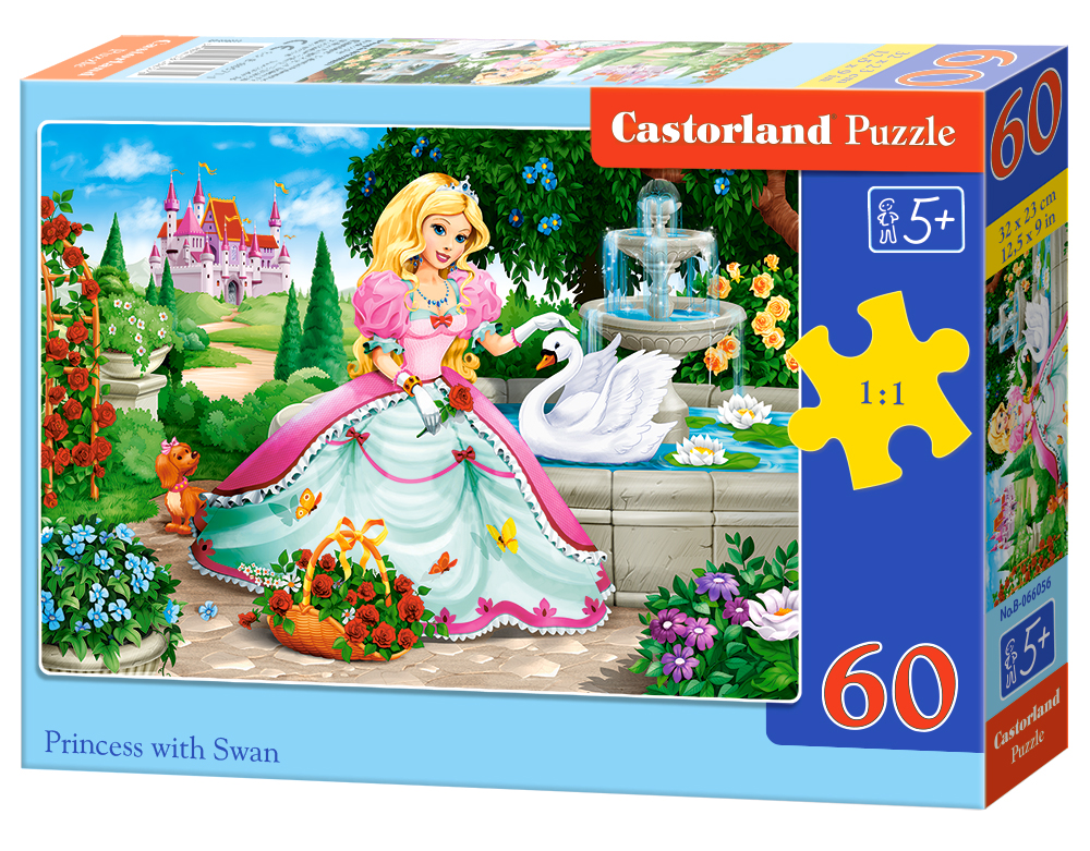 Puzzle Castorland Princess with Swan 60 dílků