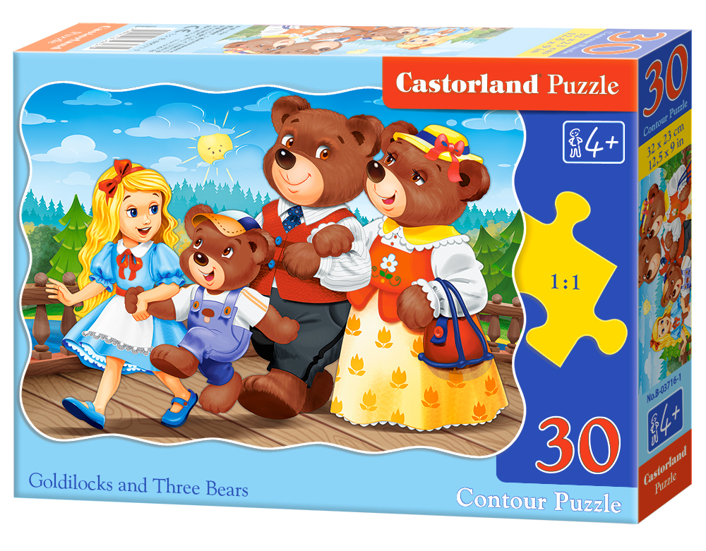 Puzzle Castorland Goldilocks and Tree Bears 30 dílků