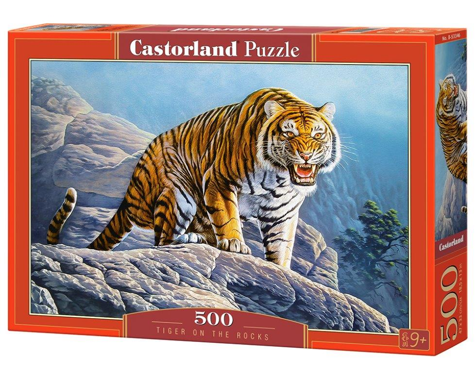 Puzzle Castorland Tiger on the Rocks 500 dílků