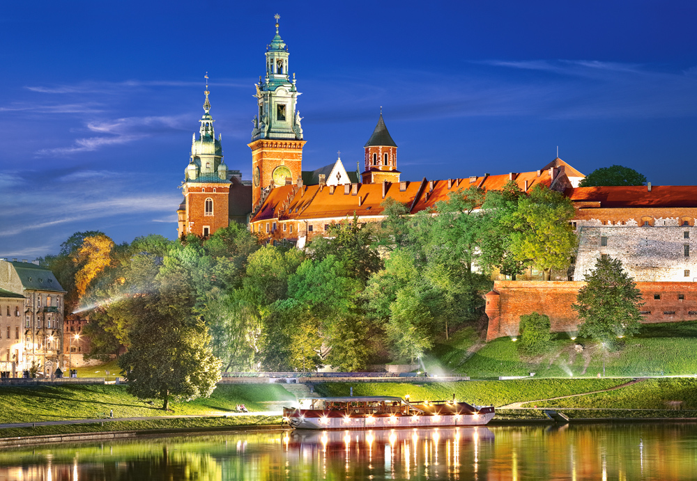 Wawel Castle by night, Poland