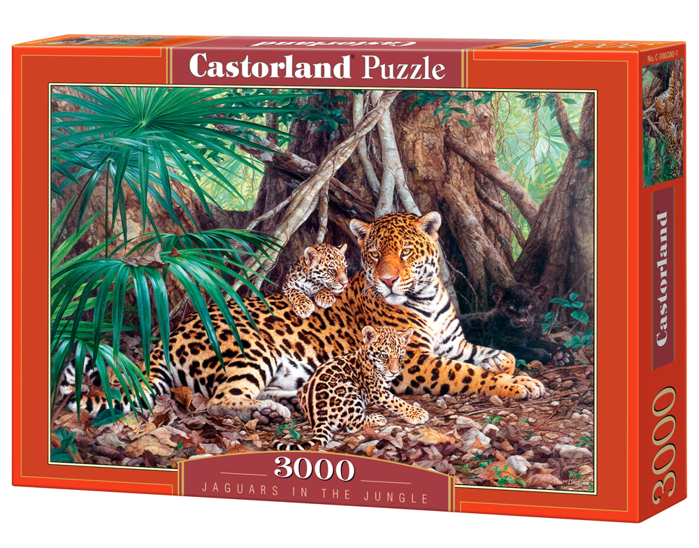 Puzzle Castorland Jaguars in the Jungle 3000 dílků