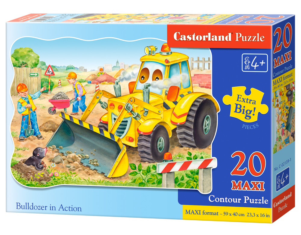 Puzzle Castorland Bulldozer in action 20 dílků