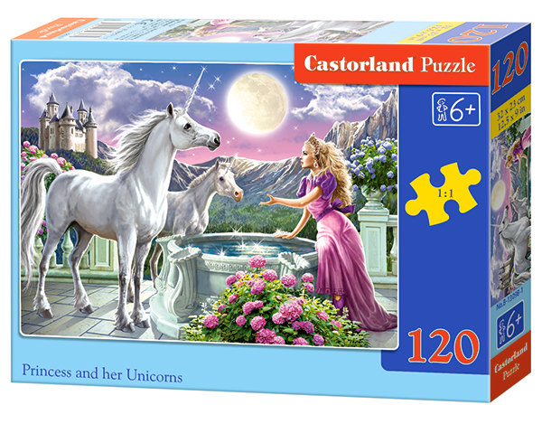 Puzzle Castorland Princess and her Unicorns 120 dílků