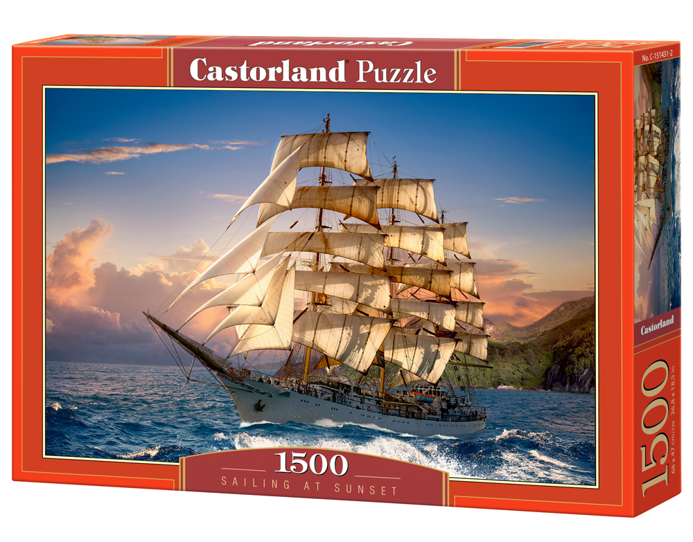Puzzle Castorland Sailing at Sunset 1500 dílků