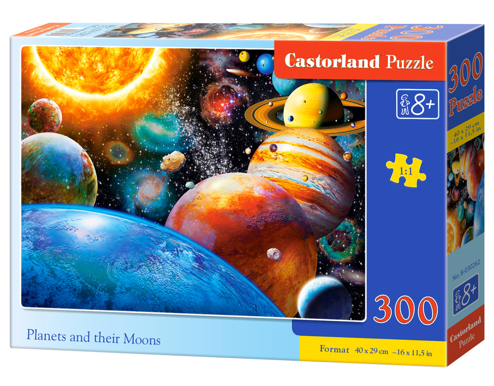 Puzzle Castorland Planets and their Moons  300 dílků