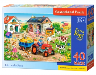 Puzzle Castorland Life on the Farm 40 dílků