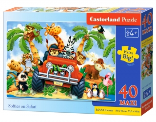 Puzzle Castorland Softies on Safari 40 dílků